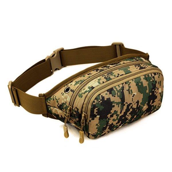Slim Bag with Zipper Outdoor Camping Running Hiking Trekking Waist Bag