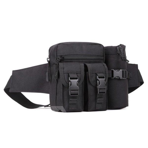 Outdoor Water Resistant Bag with Water Bottle Holder Running Trekking Waist Bag