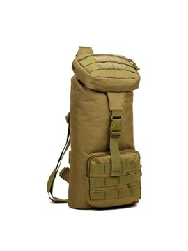 Men's Nylon Single Shoulder Durable Outdoor Camping Trekking Bag Square Daypack
