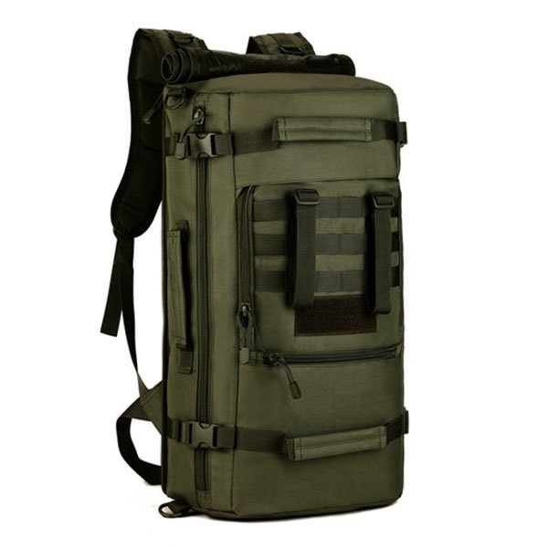 50L High Capacity Backpack Military Outdoor Camping Hiking Square Backpack