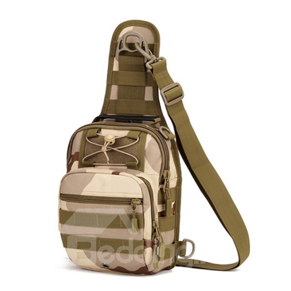 Nylon Fabric Shoulder Sling Unbalance Satchel Outdoor Sports Bag
