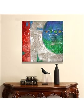 Creative Abstract Hand Painted Oil Painting for Home Decoration