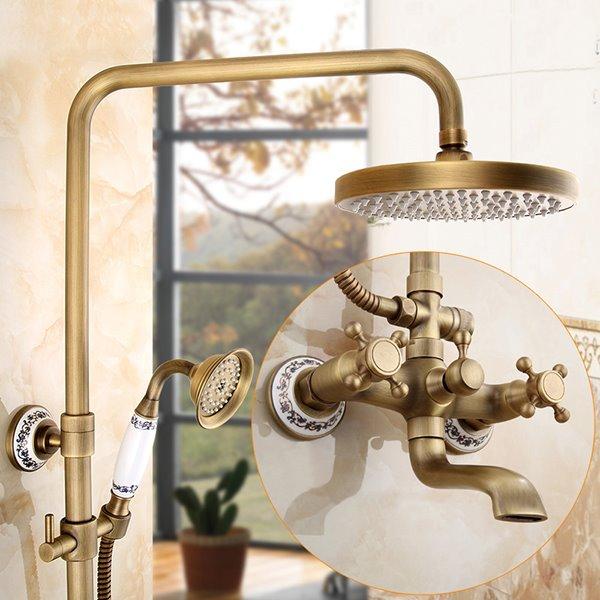 European Style Vintage Antique Brass Shower Heads