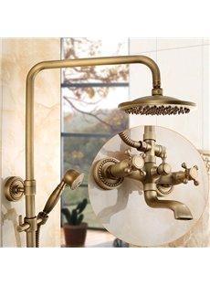 European Style Antique Brass Bathroom Set Shower Heads