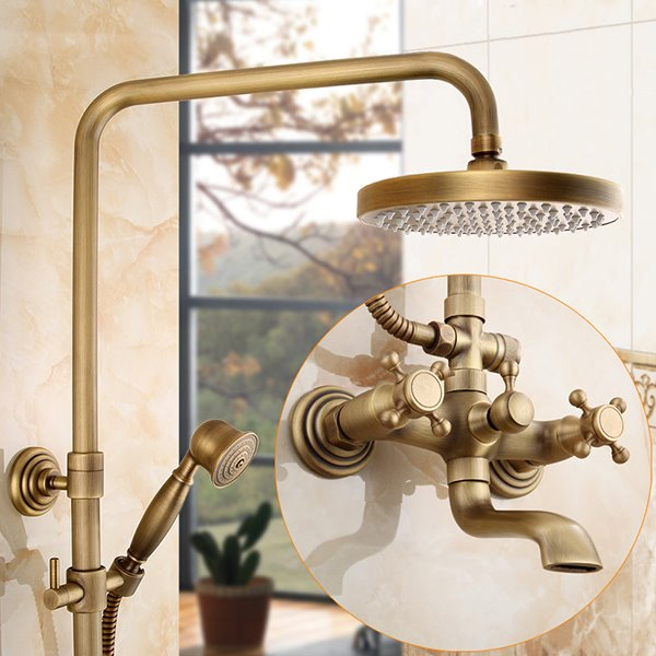 Antique Brass Thermostatic Shower Head