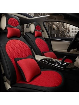 Wonderful Classic Mixed Color Universal Five Car Seat Cover