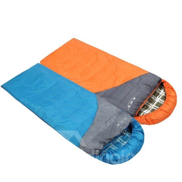 Attachable Ultralight Plaid Tapered Rectangular Couple Warm Envelope Sleeping Bag