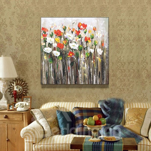 100% Hand-painted Flowers Oil Painting Wall Stickers