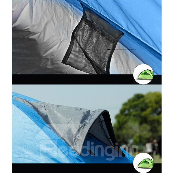2 Person One Bedroom Instant Double Layers Fiberglass Camping Tent