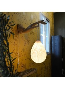 Classic Resin Lotus Decorative Wall Light