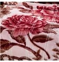 Ultra Soft Noble Peony Print Flannel Blanket