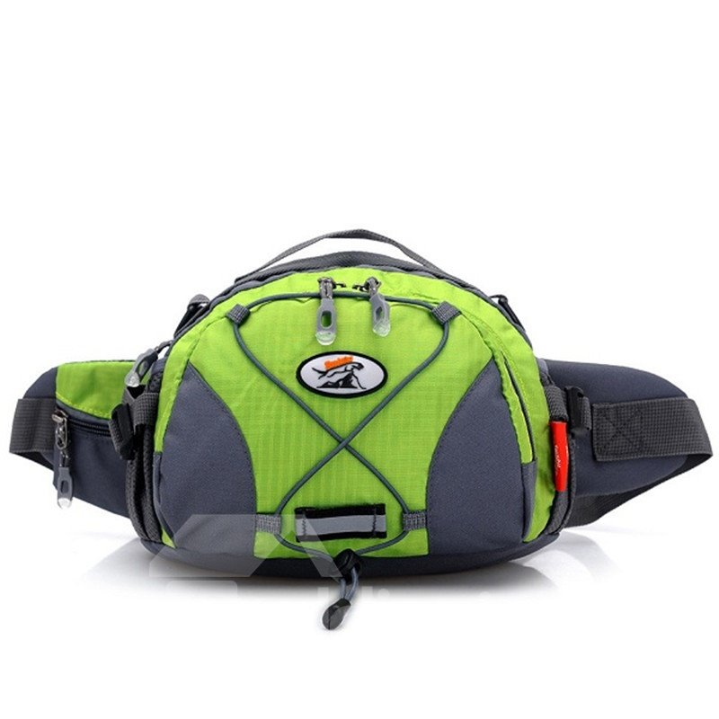 Outdoor Multifunctional Waterproof Waist Pack with Bottle Holder Hiking Running Sports Bag