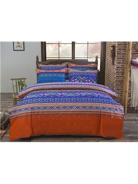 Lightweight Microfiber Simple Stripe 4-Piece Duvet Cover Sets