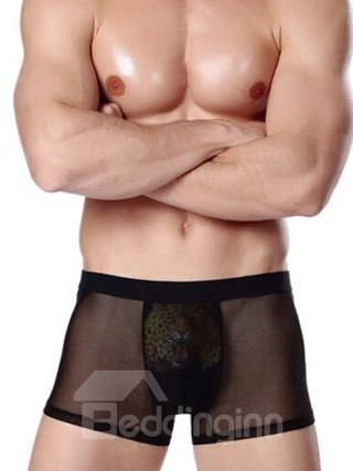 Ferocious Tiger Pattern And Solid Sexy High Quality Underwear Briefs