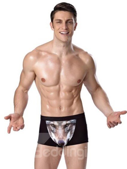 Brave Wolf Pattern And Top Selling High Quality Underwear Briefs