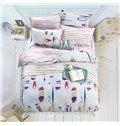 Fantastic Colorful Stationery Pattern 4-Piece Cotton Duvet Cover Sets