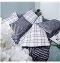 Pure Cotton Concise Pattern Grey 4-Piece Duvet Cover Sets