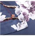 Pretty White Flowers Print 4-Piece Cotton Duvet Cover Sets