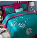 Fancy Dandelion Pattern Embroidery 4-Piece Cotton Duvet Cover Sets