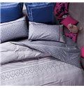European Style Pure Cotton Embroidery 4-Piece Duvet Cover Sets