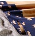 Lovely Horse Pattern Print 4-Piece 100% Cotton Duvet Cover Sets