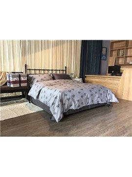 Concise Tree Print Grey 4-Piece Cotton Bedding Sets
