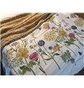 Vivid Fabulous Flowers Print 4-Piece Cotton Bedding Sets