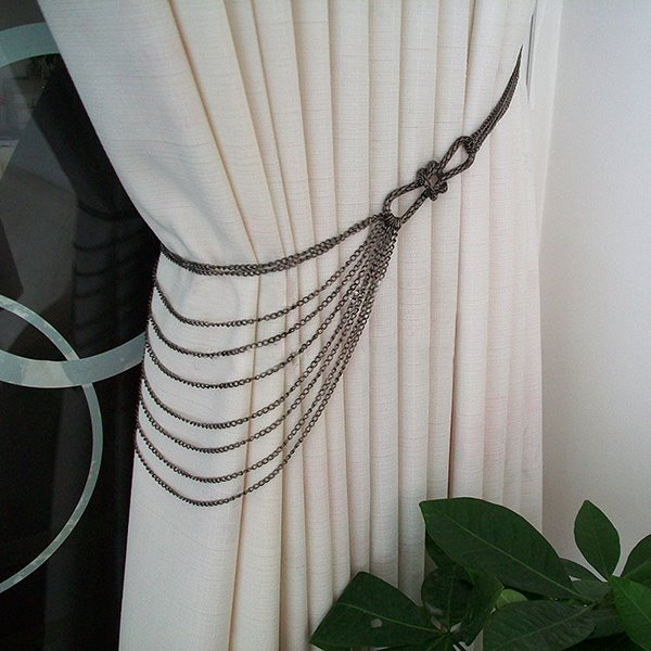 Chic Iron Chain Decorative Curtain Tiebacks Beddinginn Com