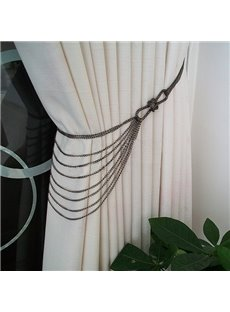 Chic Iron Chain Decorative Curtain Tiebacks