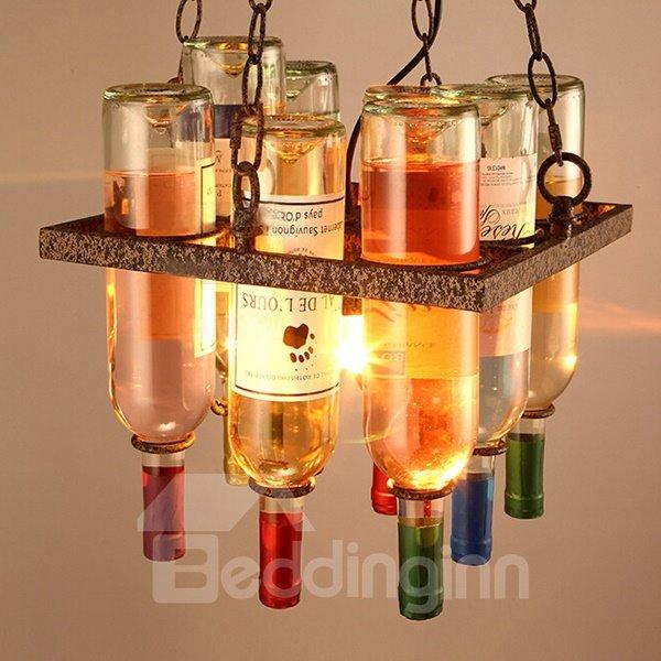 Modern Design Winebottle Shape Iron Bar Decorative Ceiling Light