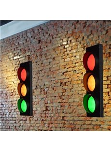 Super Creative Traffic Lights Shape Decorative Wall Light