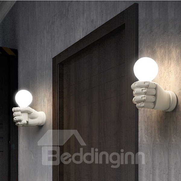 Creative Modern Design Black and White Fist Wall Light