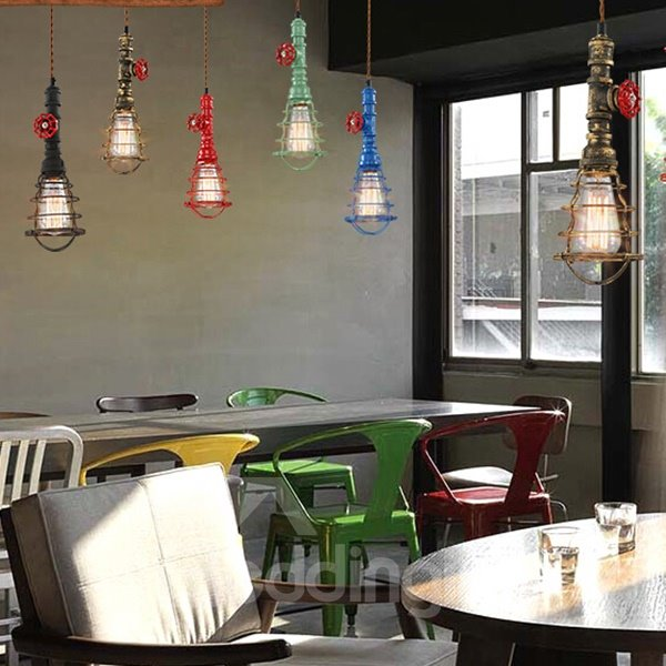 Colorful Individualization Water Pipe Ceiling Light