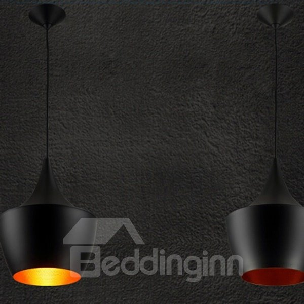 Black Creative Musical Instrument Shape Bar Ceiling Lights