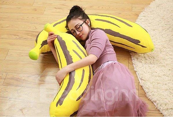 Adorable Soft Banana Design Plush Throw Pillow