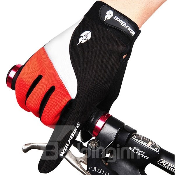 Unisex Shock-absorbing Cycling Full Finger Road Racing Mountain Road Gloves
