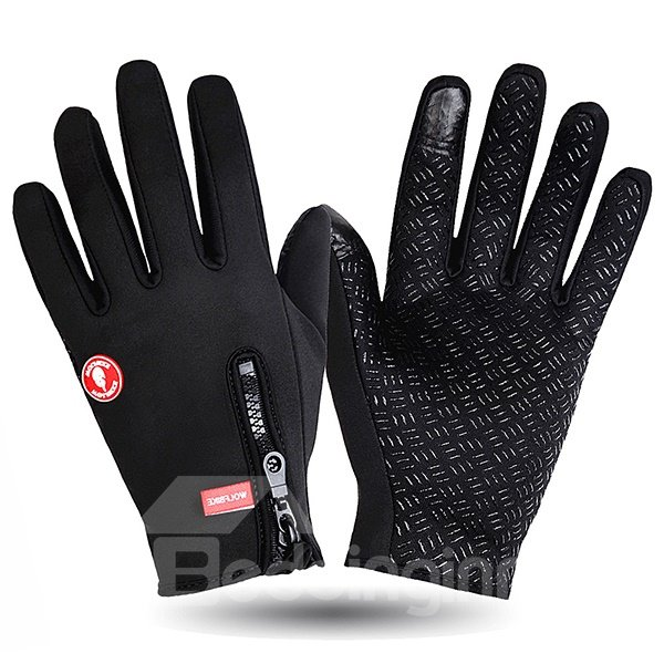 Mountain Bike Road Racing Bicycle Gloves Touch Recognition Cycling Full Finger Gloves