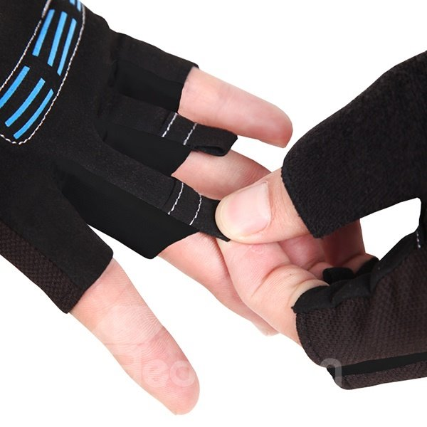 Unisex Breathable Shock-absorbing Gel Pad Cycling Half Finger Bike Gloves