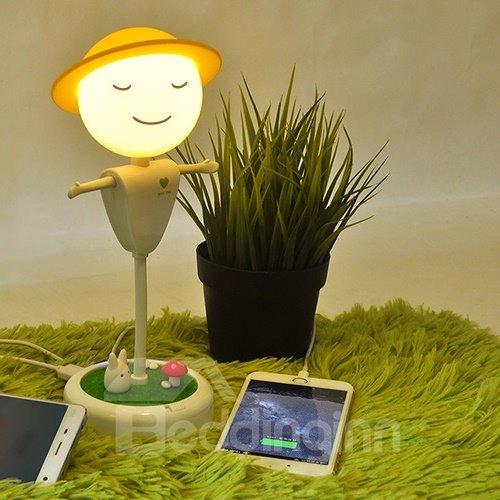 Flexible Twist Touch Sensor Scarecrow Design Night Lamp