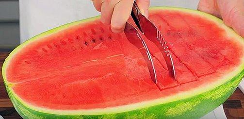 Convenient Stainless Watermelon Cut Honeydew Slicer