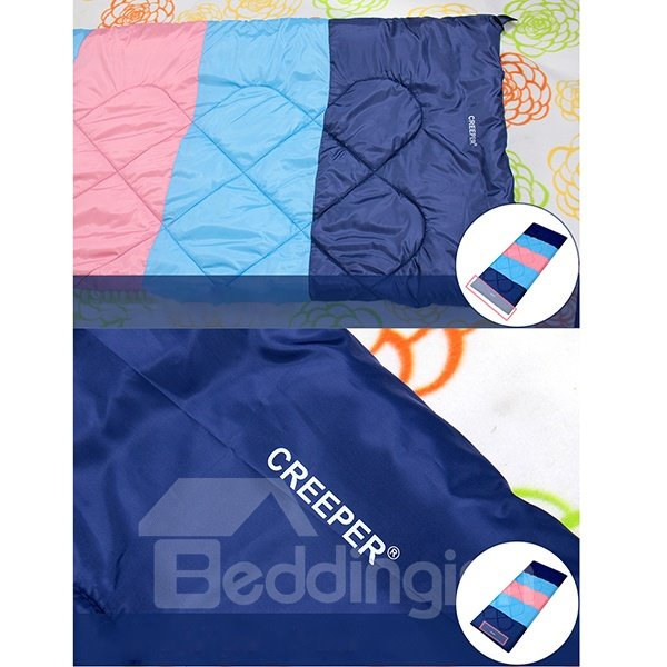 Colorful Outdoor Rectangular Camping Hiking Traveling Sleeping Bag