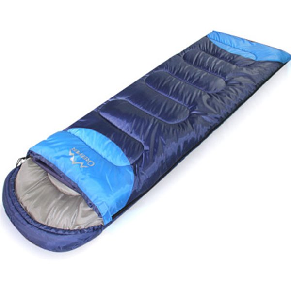 Blue Comfort Ultralight Tapered Outdoor Camping Hiking Traveling Envelope Sleeping Bag