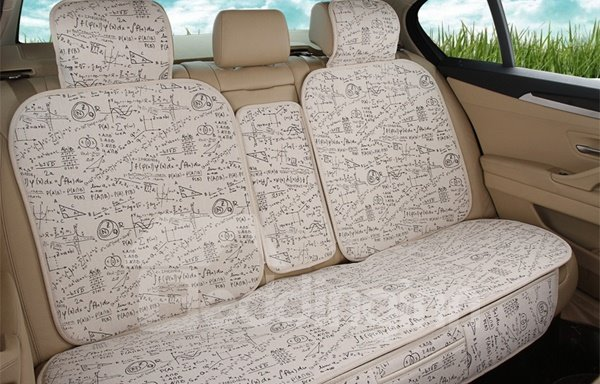 Creative Geometry Design Pattern Popular Beige Universal Car Seat Cover