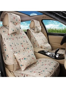 Fresh And Elegant Style With Red Cartoon Apple Car Seat Cover
