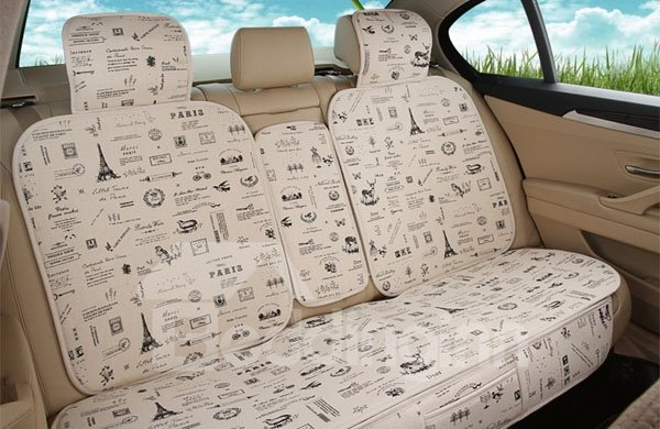 New Style Cartoon Tower Pattern Charming Universal Car Seat Cover