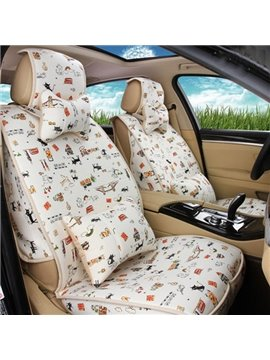 New Small Cute Cat Pattern Attractive Universal Car Seat Cover