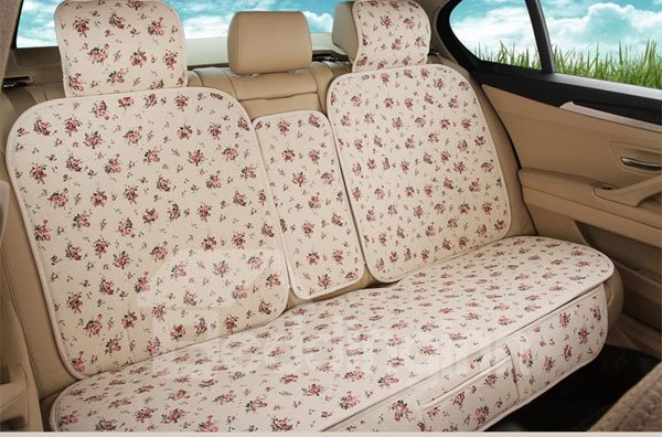 Floral Style With Lots Of Beautiful Flower Universal Car Seat Cover