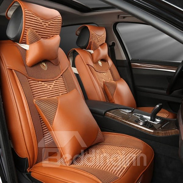 Classic Leather Material Five Universal Car Seat Cover