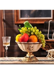 Luxury European Style Ceramic Fruit Plate Desktop Decoration