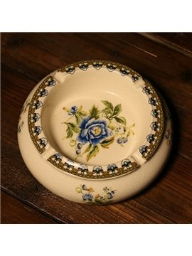 Creative Blue Flowers Ashtray Desktop Decoration